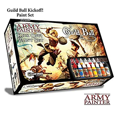 Guildball Miniature Paints, Army Paint Set of 16 Dropper Bottle Paints for Miniatures from Guild Ball Board Game - Guild Ball Kick Off Paint Set by The Army Painter by The Army Painter