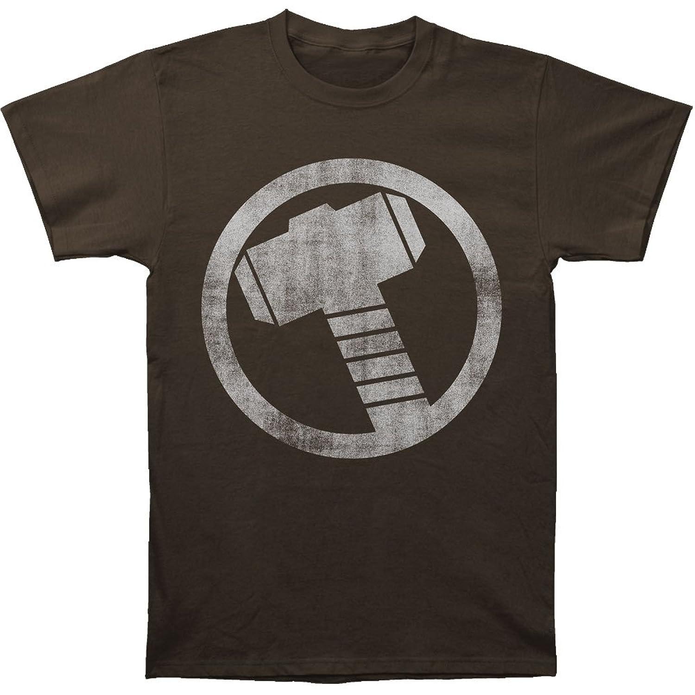 Thor Men's Black Circle Logo Tee Shirt - XX-Large