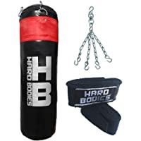Hard Bodies Synthetic Leather Punching Bag- Black - UNFILLED