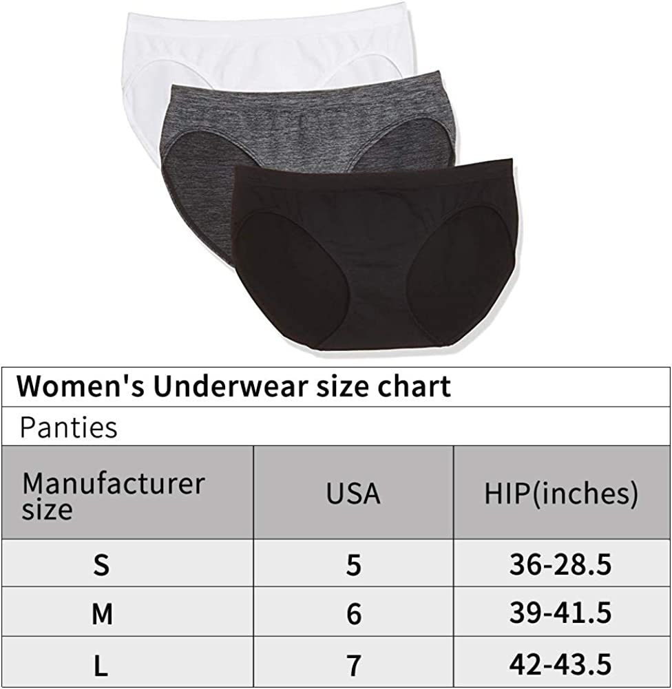 Laylas Celebrity Womens Seamless Hi-Cut Panties Nylon Spandex Underwear 3 Pack