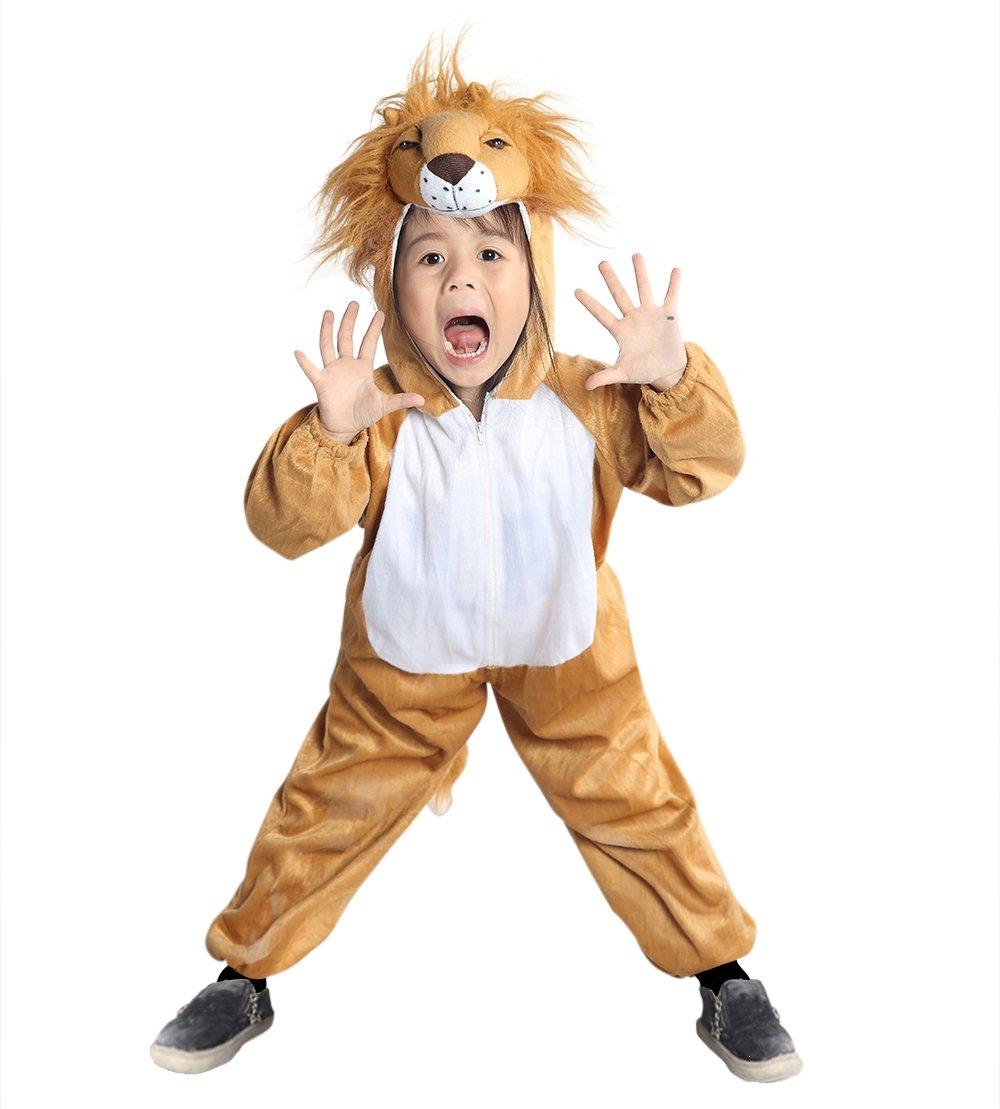 AN73 2-3 años cabeza de león traje de los tamaños del bebé trajes de bebé de niño carnaval