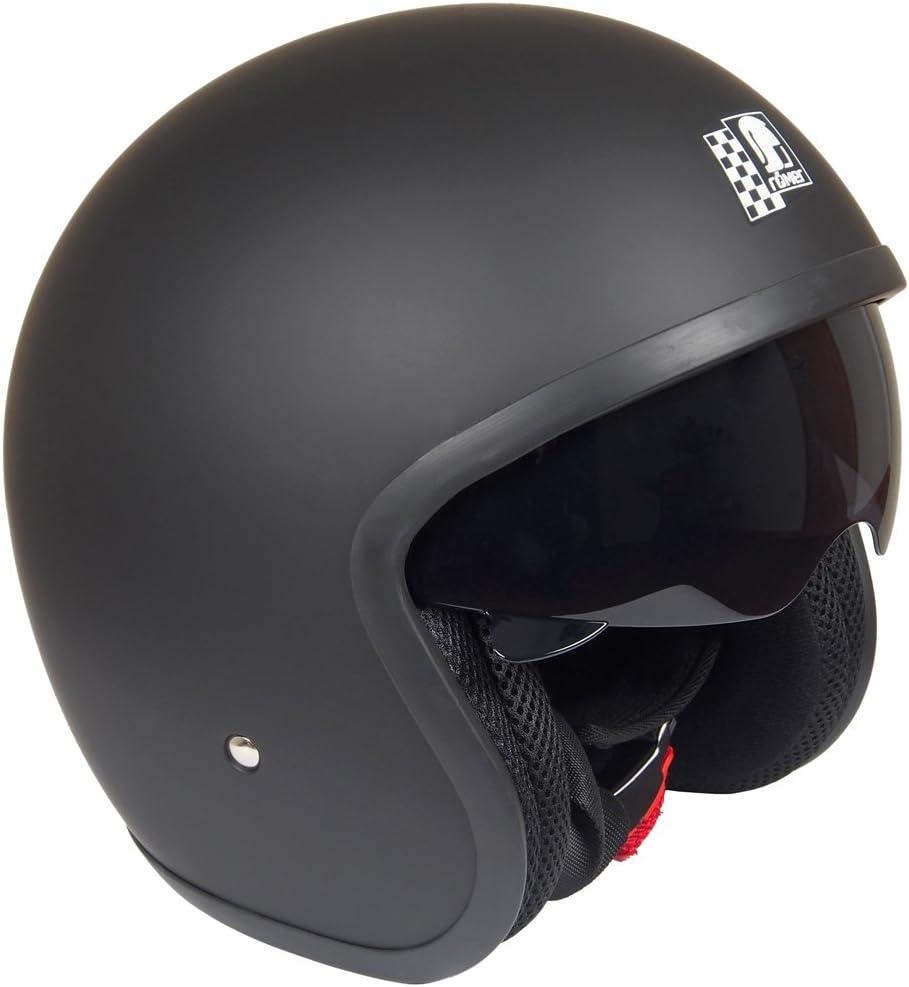 Römer Helmets Motorradhelm Custom Matt Schwarz Größe L Auto