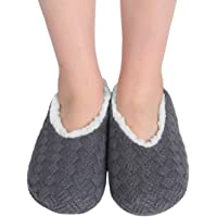 ChicNChic Women Cozy Warm Knit Non Slip Slipper Socks with Grippers Casual House Socks