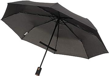 Amazon Com Tahari Automatic Open Close Compact Travel Umbrella With Contour Handle Rose Gold For Men And Women Black
