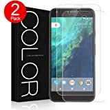 Google Pixel Screen Protector, G-Color® Tempered Glass Screen Protector,Case Friendly[0.2mm,2.5D][Bubble-Free] [9H Hardness] [Scratch-resistant]for Google Pixel (2 packs)