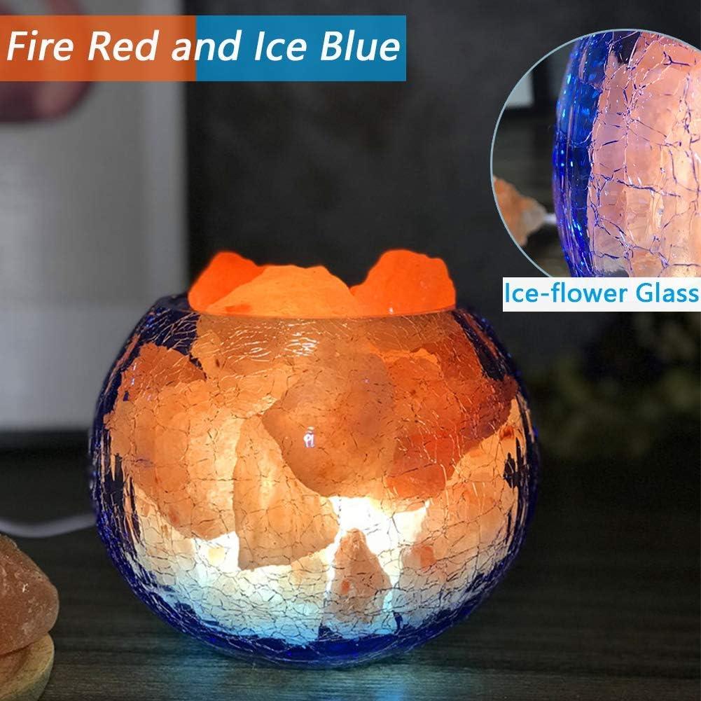 Lámpara de Sal del Himalaya USB, Libera Aire purificador de Iones ...