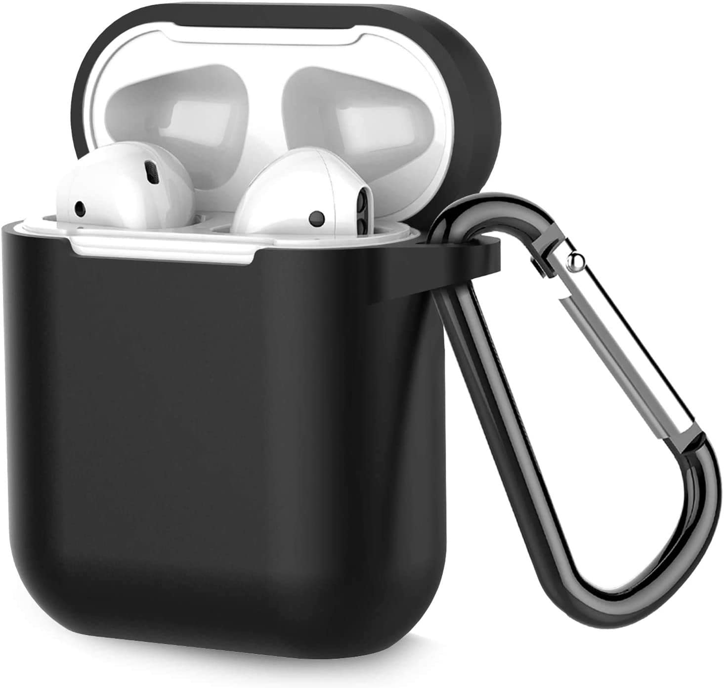 for Airpods Case Cover Silicone, Compatible with Airpod 2 & 1, Full Protective Skin Designed with Keychain, Airpod Wireless Charging Cases for Women Men Boys and Girls
