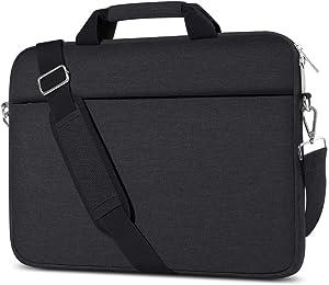 AtailorBird Laptop Bag 15.6 inch, Waterproof Travel-Friendly Handbag Briefcase Computer Protective Messenger Bag Carrying Case for Men Women Business, Black