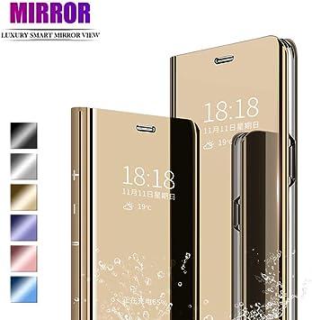 ANWEN Para Samsung Galaxy A70 Funda,Translúcido Espejo Standing ...