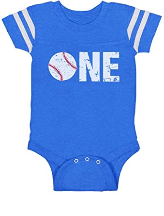 1st Birthday Gift For One Year Old Infant Baseball Baby Jersey Bodysuit 6M Blue