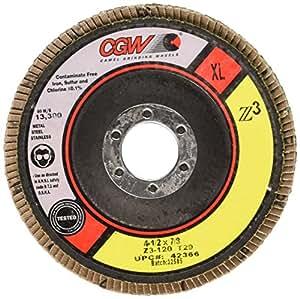 """Flap Discs, Z3-100% Zirconia, XL - 4-1/2 x 7/8"""" z3-120 t29xl 100% za flap disc"""