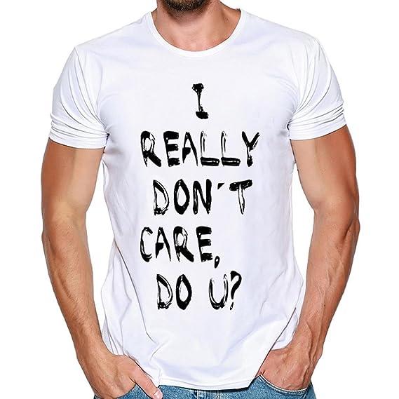 DEELIN Los Hombres De La Moda De ImpresióN T-Shirt Camiseta De Manga Corta Camiseta