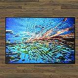 Realfish H20 Series: Under Cover School of fish 24'' x 36'' Floor Mat, Fish Mat, Door Mat