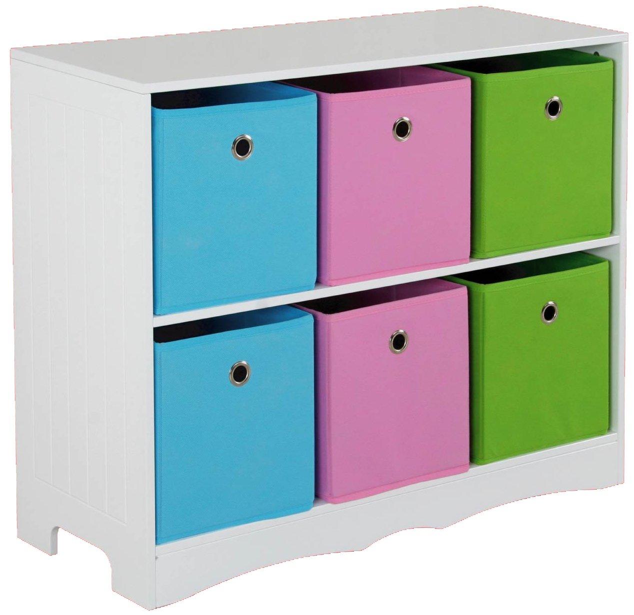 Home Basics Six Bin Storage Shelf: Amazon.co.uk: Kitchen & Home