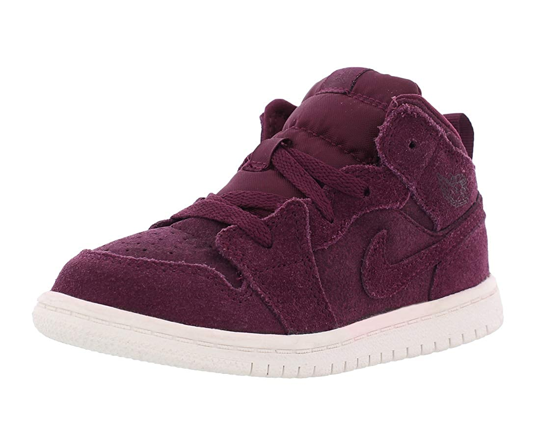 Jordan Boys 1 Mid BT Perforated Fashion Fashion Sneakers