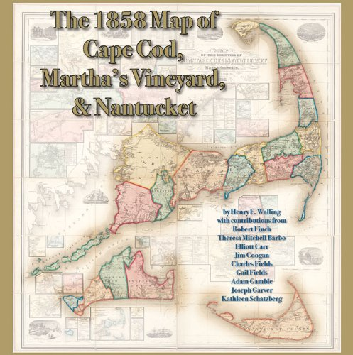 (The 1858 Map of Cape Cod, Martha's Vineyard, & Nantucket)