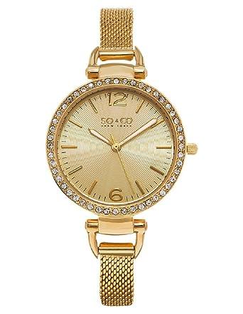Soho Quarz Uhr Damen Soamp; New Gold Zifferblatt Co York Analog Mit CrWdBxoe