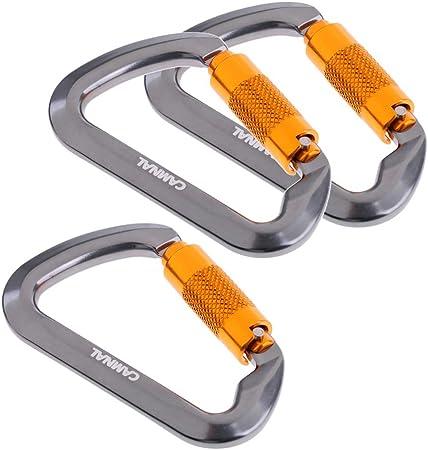 perfeclan 3pcs Mosquetón Escaladas Aleación de Aluminio ...