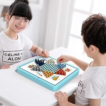YFDD Damas Damas Juego de Madera de Madera Juego de Viaje Juego 5 En 1/10 En 1 Juegos de Mesa aijia (Color : True Color , Size : 10 Set) : Amazon.es: Juguetes y juegos
