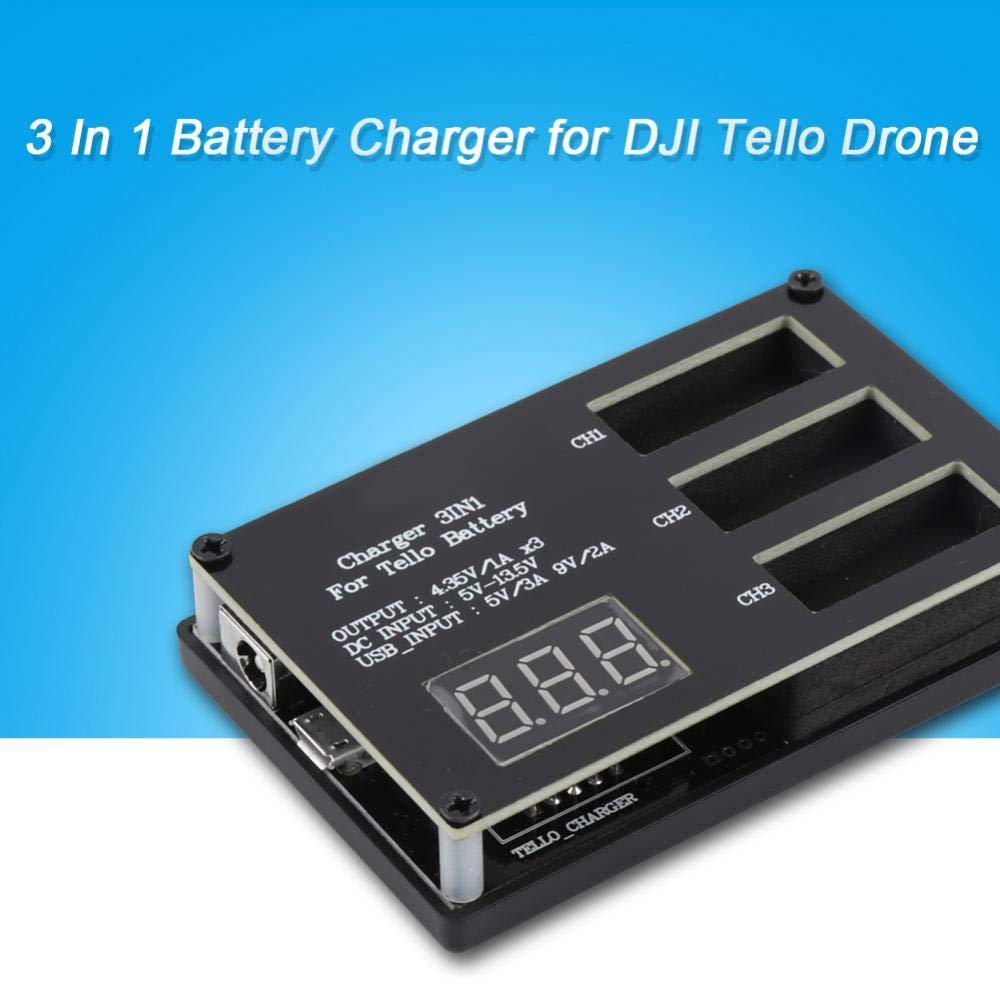Governante Hub di Ricarica per Batteria DJI Tello Drone Caricabatterie Multi Batteria