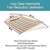 Lazy Daze Hammocks Quilted Fabric Double Hammock