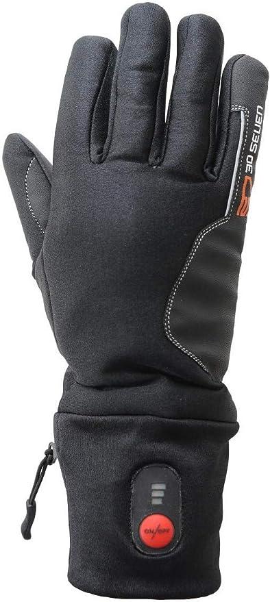 Winter Heated Handschuhe Damen Herren Warm Fahrradhandschuhe 3Heizstufen Schwarz