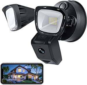 VOLADOR Security Floodlight Camera, Indoor/Outdoor Home Smart WiFi Surveillance with Light, Motion-Activated, 1080P HD, 3000 Lumens, Two-Way Audio, Night Vision