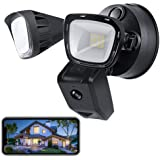 VOLADOR Security Floodlight Camera, Indoor/Outdoor Home Smart WiFi Surveillance with Light, Motion-Activated, 1080P HD…