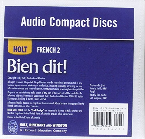Bien dit!: Audio CD Program Level 2 by HOLT, RINEHART AND WINSTON