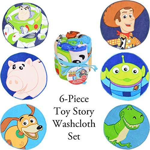 Story Toy Set Bedding (Disney Toy Story 6Pc Washcloth Set)