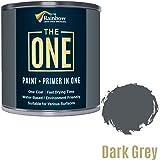Pintura One, una capa, pintura multisuperficie para madera, metal, plástico, interior, exterior, gris oscuro, 1 litro