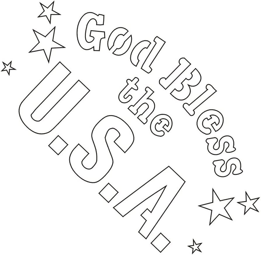 Amazon Com Badger Totally Tattoo Body Art Stencils God Bless The Usa 22 747 Arts Crafts Sewing