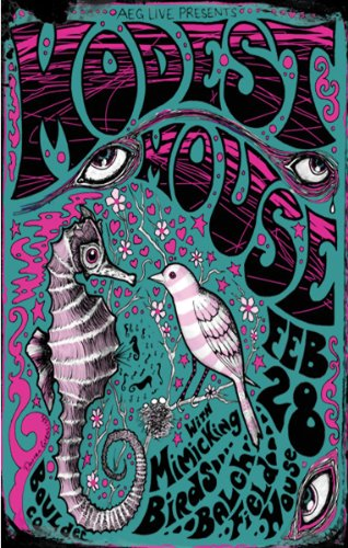 Innerwallz Modest Mouse Concert Boulder Concert Art Print - Concert Memorabilia - 11x17 Poster, Vibrant Color, Features Isaac Brock, Jeremiah Green and Eric Judy.