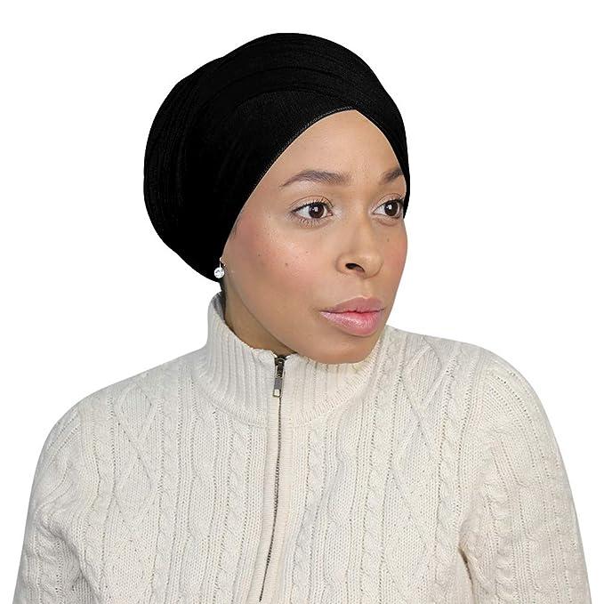 Jersey Hijab Head Wraps for Women Long Hair Turban Hijab Scarfs for Muslim- 21 in
