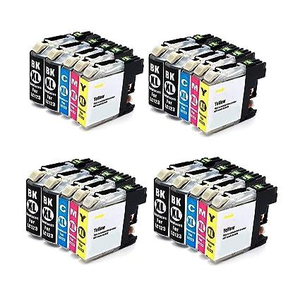 ColorFish LC123 Cartucho de Tinta Compatible Brother LC123 ...