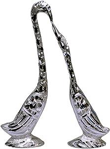 Craft Trade Brass Swan Love Birds Showpiece Standard Black1