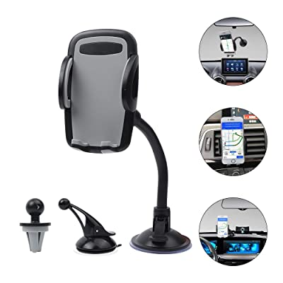 Vech Car Phone Mount Phone Holder for Car Compatible for iPhone 11/11 Pro/8 Plus/8/X Samsung S20/S10 Universal Mobile Cell Phone Mount Car Air Vent Holder Dashboard Windshield Mount