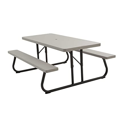 Amazon lifetime 22119 folding picnic table 6 feet putty lifetime 22119 folding picnic table 6 feet putty watchthetrailerfo