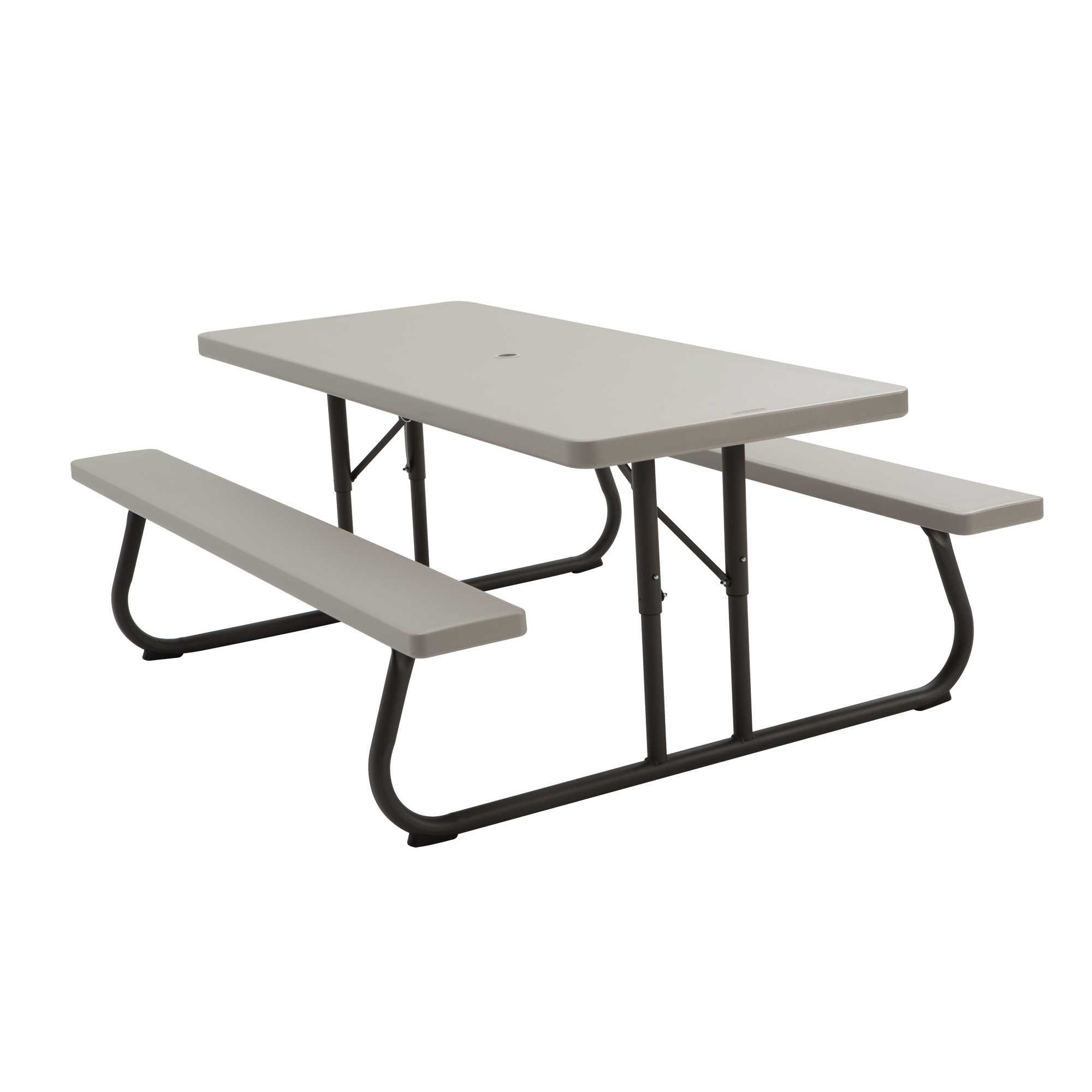 Lifetime 22119 Folding Picnic Table, 6 Feet, Putty by Lifetime