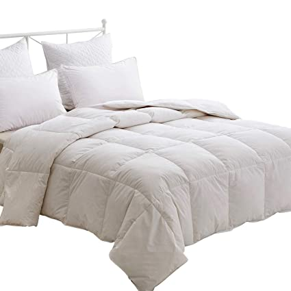 86bb6309e5a HOMEFOUCS Single Bed Duvet - Luxury White Goose Feather & Down Duvet/Quilt,  13.5 Tog, 100% Cotton Shell, Anti-dust mite & Feather-proof Fabric ...