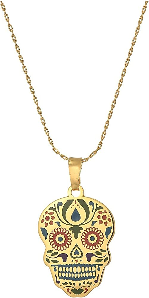 """Alex and Ani Womens Color Infusion Calavera 32"""" Expandable Necklace"""