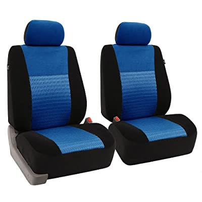 FH Group FB060BLUE102 Blue Deluxe 3D Air Mesh Front Seat Cover, Set of 2 (Airbag Compatible): Automotive