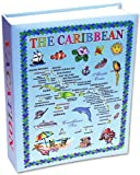 Caribbean Photo Album, Album Caribbean Islands Gift Souvenir Photo 4x6 - Caribbean countries included - vacations memories/Blue