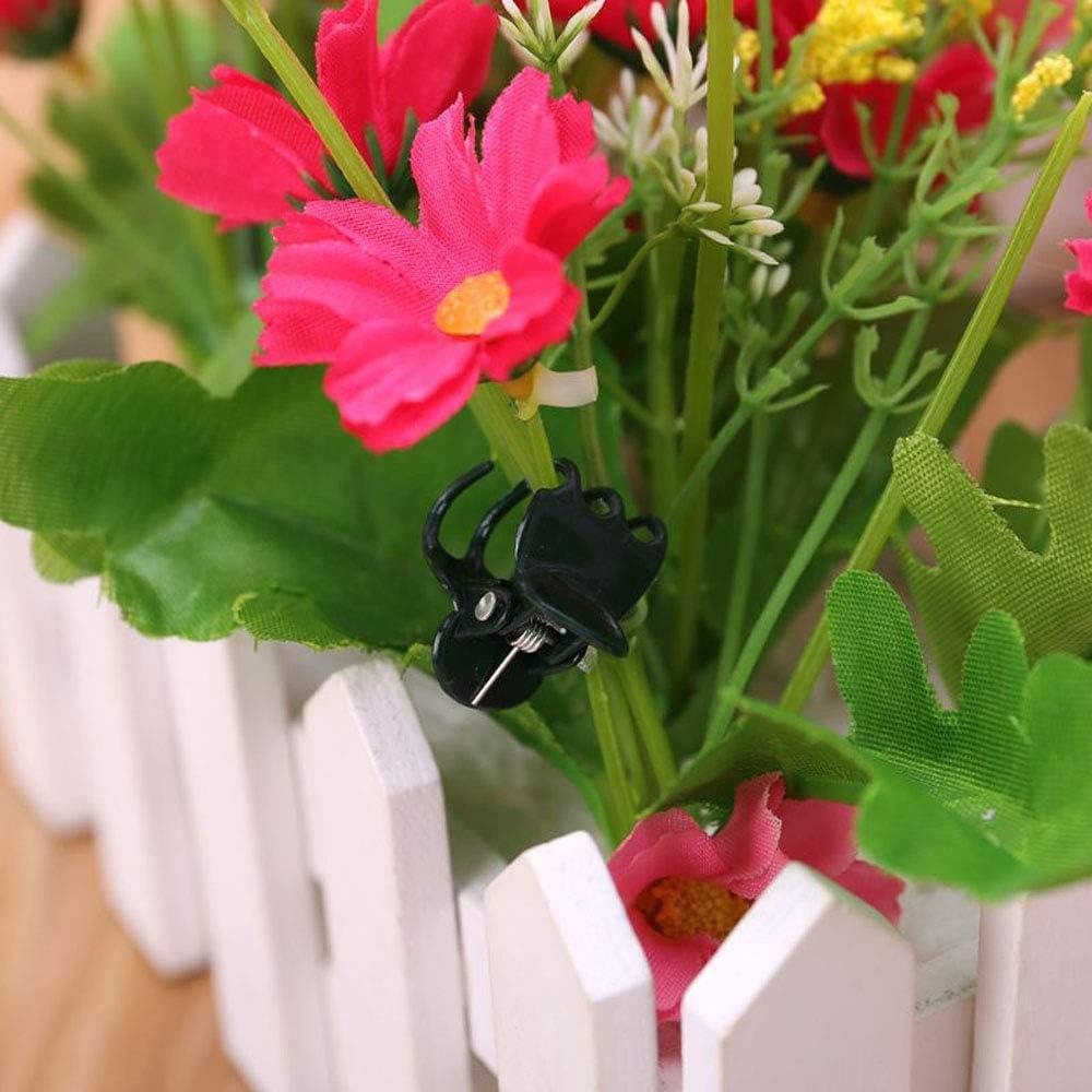 EOPER 200 St/ück Orchideenklammern Orchideenst/ützklammern Kunststoff Pflanzenst/ützen Clips Blumenreben Clips zur Unterst/ützung Befestigung von Stielen Garten Pflanzen Anzucht Supplies gr/ün