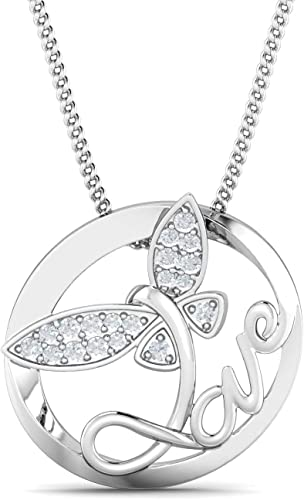 18 Inch 925 Sterling Silver Rhodium-plated Lobster Claw Closure and Cubic Zirconia Sun Necklace