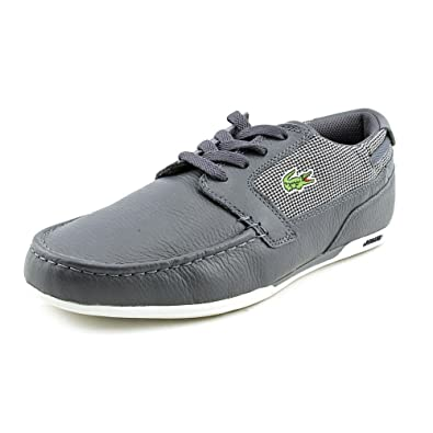 9df0dcee6df68 Lacoste Dreyfus Mens Blue Moc Leather Boat Shoes Size New Display UK 8   Amazon.co.uk  Shoes   Bags