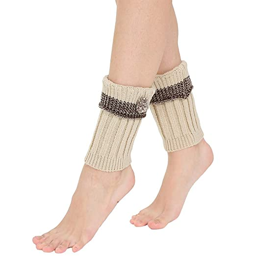 55d99828132 URIBAKE Women Leg Warmers Crochet Leggings Thermal Knit Winter ...