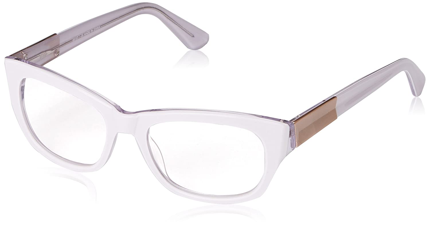 1edac2547954 A.J. Morgan A.J. Morgan Women's Ambrosia Rectangular Reading Glasses,  White, 2.25: Amazon.in: Clothing & Accessories