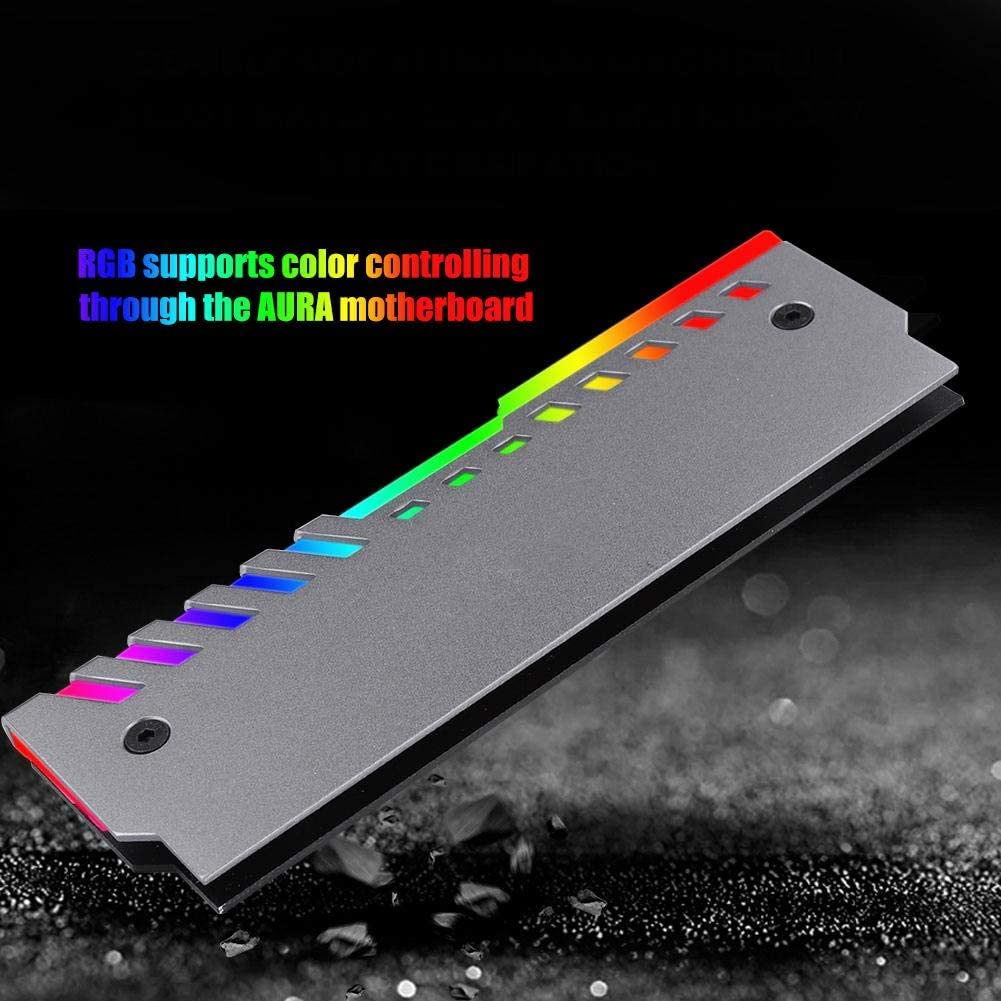 Memory RGB Light Effect Heat Sink with Dual Heat-conducting Silicon Grease Chip and 3PIN Motherboard Power Supply Interface for JONSBO NC-2 fosa CPU Heat Sink Cooling Heatsink