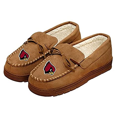 bb0a1773e4e Forever Collectibles NFL Football Mens Team Logo Moccasin Slippers Shoe -  Pick Team (Arizona Cardinals